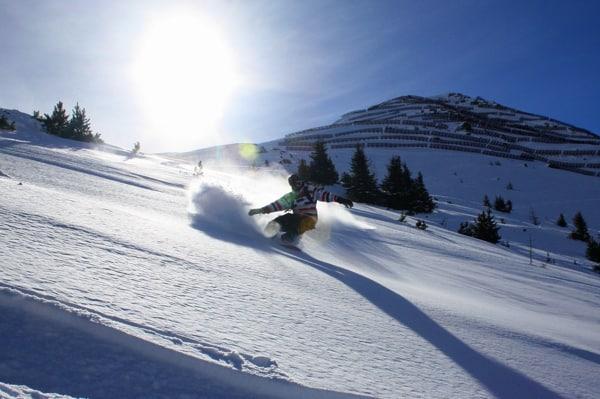 St. Anton snowboard offpiste