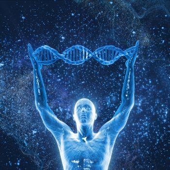 Mand med DNA helix